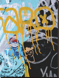 Yellow Aqua Graffiti I