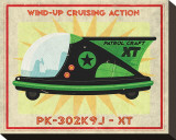 Patrol Craft XT  Box Art Tin Toy