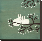 Rabbits on Marshmallow Tree Tableau sur toile par Kristiana Pärn
