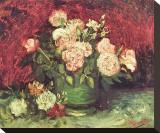 Roses and Peonies, c.1886 Tableau sur toile par Vincent Van Gogh