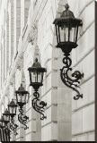 Lamps on Side of Building