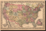 Map of the United States  c1867