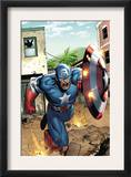 Marvel Adventures Super Heroes 8 Cover: Captain America