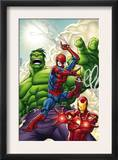 Marvel Adventures Super Heroes 1 Cover: Spider-Man  Iron Man and Hulk