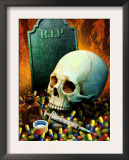 Drugs  Skull  and a Gravestone