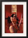 Elektra The Hand 1 Cover: Elektra Fighting
