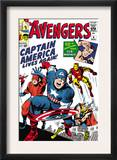 Avengers Classic 4 Cover: Captain America  Iron Man  Thor  Giant Man and Wasp