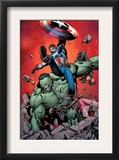 Ultimate Avengers 4 Cover: Captain America  Hulk  Red Wasp and Black Widow