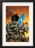 Skaar: Son Of Hulk 7 Cover: Skaar and Silver Surfer