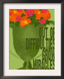 Miracles Vintage Green Trophy