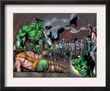 Incredible Hulk 107 Group: Hulk  Hercules  Namora  Cho  Amadeus and Angel