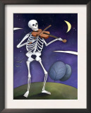 Skeleton Playing a Violin  Day of the Dead  Dia de los Muertos