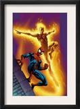 Ultimate Spider-Man 68 Cover: Spider-Man and Human Torch