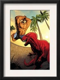 Marvel Adventures Fantastic Four 41 Cover: Thing and Devil Dinosaur