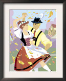 Two Young Adult Male and Female German Dancers