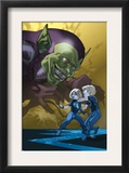 Dark Reign: Fantastic Four 4 Cover: Green Goblin  Richards  Franklin  Richards and Valeria