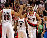 Dallas Mavericks v Portland Trail Blazers - Game Four  Portland  OR - APRIL 23: Brandon Roy and Nic