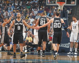 San Antonio Spurs v Memphis Grizzlies - Game Four  Memphis  TN - APRIL 25: Manu Ginobili and Tony P