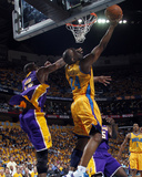 Los Angeles Lakers v New Orleans Hornets - Game Three  New Orleans  LA - APRIL 22: Carl Landry and