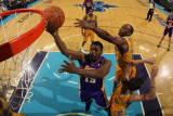 Los Angeles Lakers v New Orleans Hornets - Game Three  New Orleans  LA - APRIL 22: Ron Artest and M