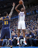 Denver Nuggets v Oklahoma City Thunder - Game Five  Oklahoma City  OK - APRIL 27: Kevin Durant and 