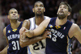 Memphis Grizzlies v San Antionio Spurs - Game Five  San Antonio  TX - APRIL 27: Tim Duncan  Shane B