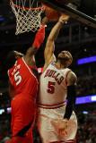 Atlanta Hawks v Chicago Bulls - Game Two  Chicago  IL - MAY 04: Josh Smith and Carlos Boozer