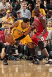 Chicago Bulls v Indiana Pacers - Game Four  Indianapolis  IN - APRIL 23: Danny Granger and Luol Den