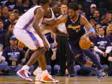 Denver Nuggets v Oklahoma City Thunder - Game Five  Oklahoma City  OK - APRIL 27: Nene Hilario and