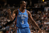 Oklahoma City Thunder v Denver Nuggets - Game Three  Denver  CO - APRIL 23: Serge Ibaka