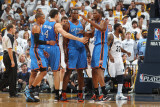 Oklahoma City Thunder v Memphis Grizzlies - Game Four  Memphis  TN - MAY 9: Kevin Durant  Nick Coll