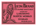 Lion Brand Coloured Matches
