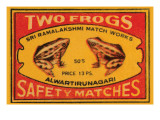 Two Frogs Safety Matches Reproduction d'art