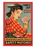 Chinese Lady Safety Matches