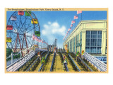 Coney Island  New York - Steeplechase Park View of the Ride