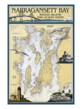 Narragansett Bay  Rhode Island Nautical Chart
