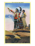 Native American Couple on Rocks