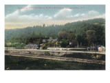 Olean  New York - WNY&P Railroad Lines; Riverhurst Park Entrance Scene