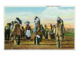 Osage Indian Dancers in Traditional Dress