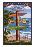 Camden  Maine - Sign Destinations