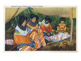 Florida - Seminole Ladies Making Colorful Clothing