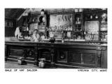 Virginia City  Montana - Interior View of Bale of Hay Saloon
