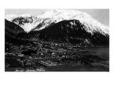 Juneau  Alaska - Aerial View of Town