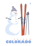 Frisco  Colorado - Snowman with Skis