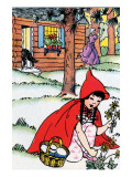 Little Red Riding Hood Picks Flowers