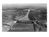 Fort Peck  Montana - Aerial View of Dam and Spillway