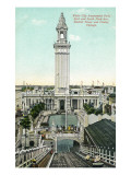 Chicago  Illinois - White City Amusement Park; View of Electric Tower and Chutes