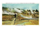 Yellowstone Nat'l Park  Wyoming - Norris Geyser Basin Scene