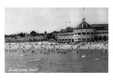 Santa Cruz  California - Crowds on the Beach Photograph