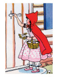 Little Red Riding Hood Knocks on Grandma's Door